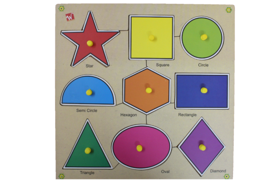 All kind of Shapes Puzzle Game / Wooden Learning Game
